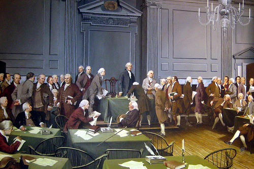 Founders at Constitutional Convention, 1787